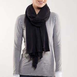 RARE! Lululemon Allegro Scarf Wrap Heathered Black